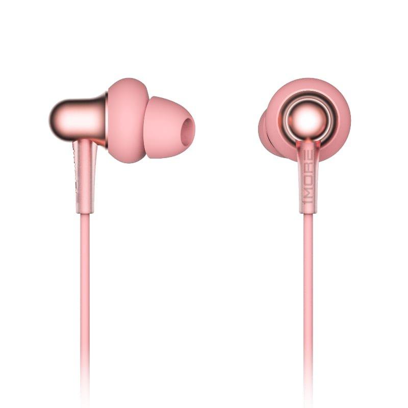 1MORE Stylish E1025 Dual Dynamic Driver Earphones Pink c