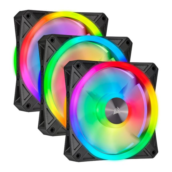 Corsair iCUE QL120 RGB triple fan black a