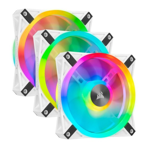 Corsair iCUE QL120 RGB triple fan white a