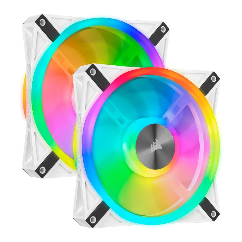 Corsair iCUE QL140 RGB twin fan white a