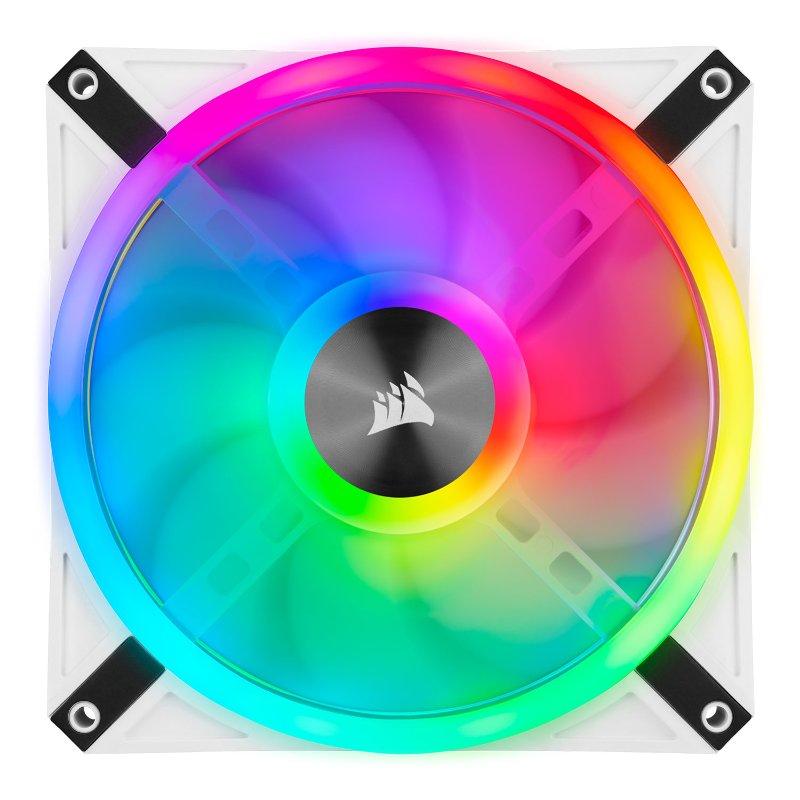 Corsair iCUE QL140 RGB twin fan white b