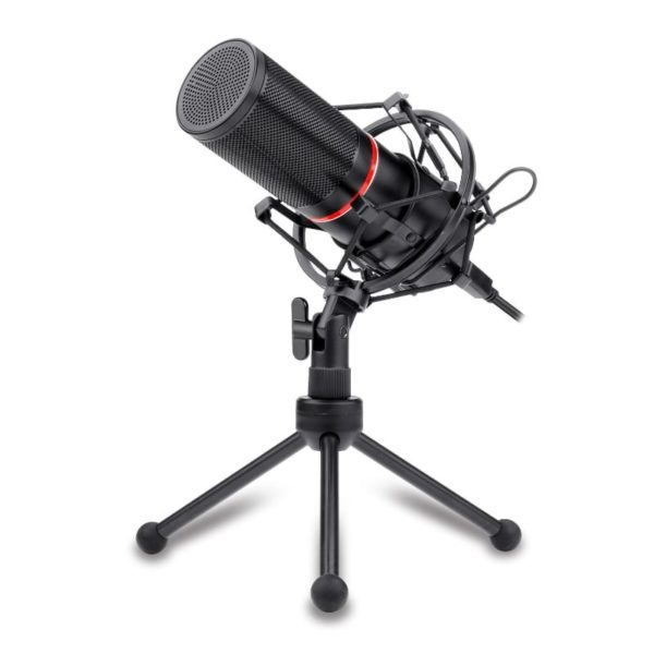 Redragon Cardioid USB Gaming Mic and Tripod a