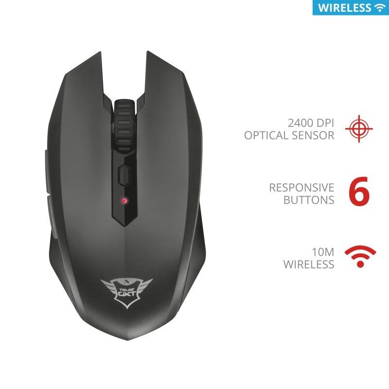 Trust GXT 115 Macci Wireless Gaming Mouse c