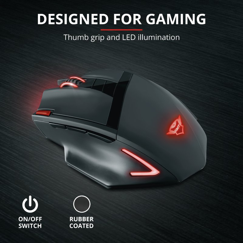 Trust GXT 130 Ranoo Wireless Gaming Mouse b