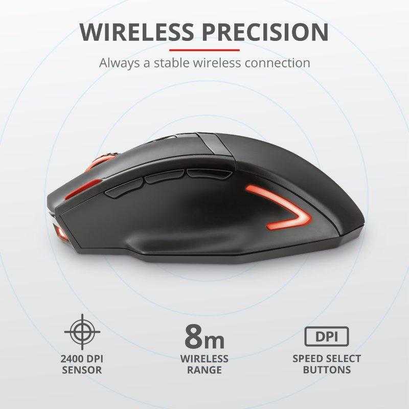 Trust GXT 130 Ranoo Wireless Gaming Mouse c