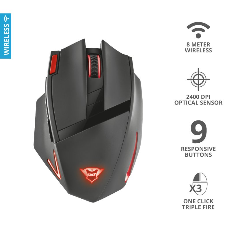Trust GXT 130 Ranoo Wireless Gaming Mouse d