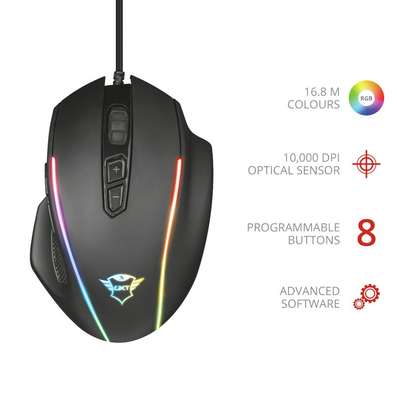 Trust GXT 165 Celox RGB Gaming Mouse b