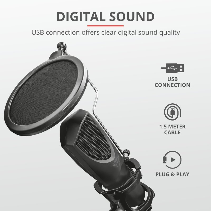Trust GXT 232 Mantis Streaming Microphone b