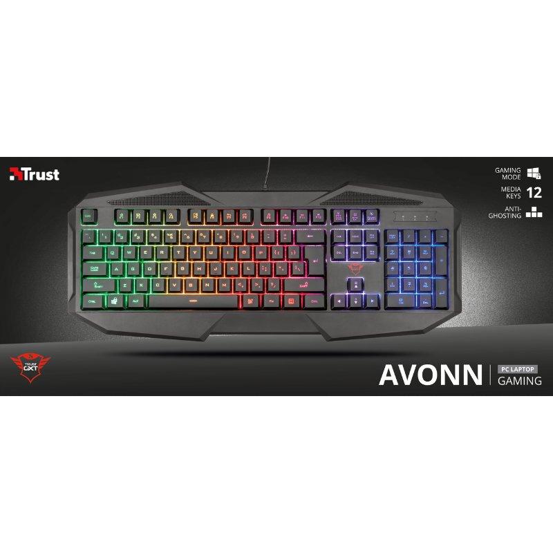 Trust GXT 830 RW Avonn Gaming Keyboard d