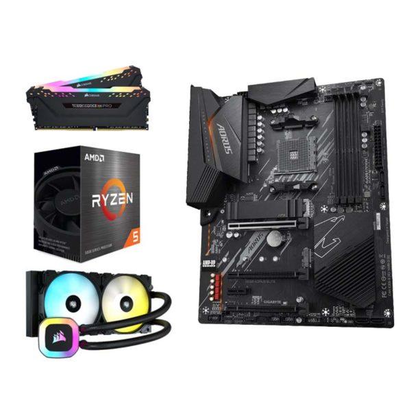 amd ryzen 5 5600x gigabyte b550 aorus elite 16gb upgrade kit a
