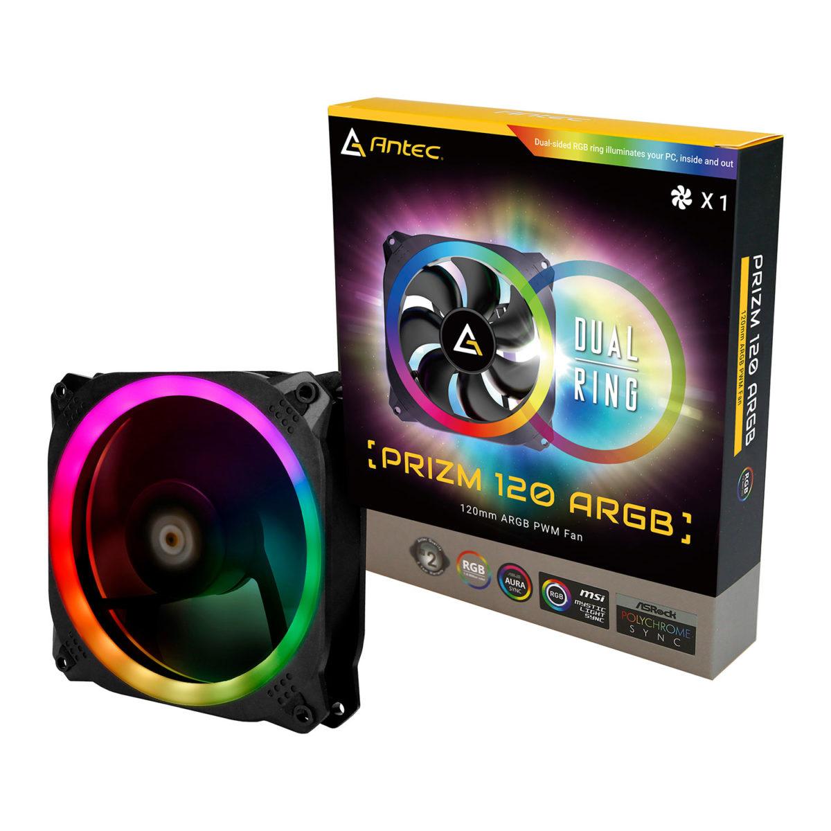 antec prizm 120mm argb case fan a