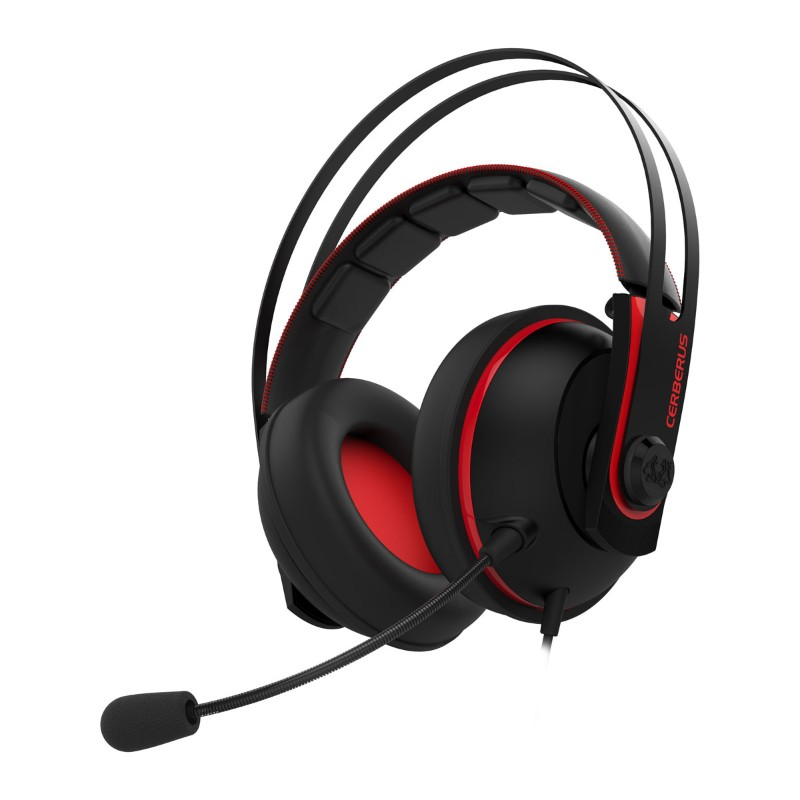 asus cerberus v2 gaming headset black red a
