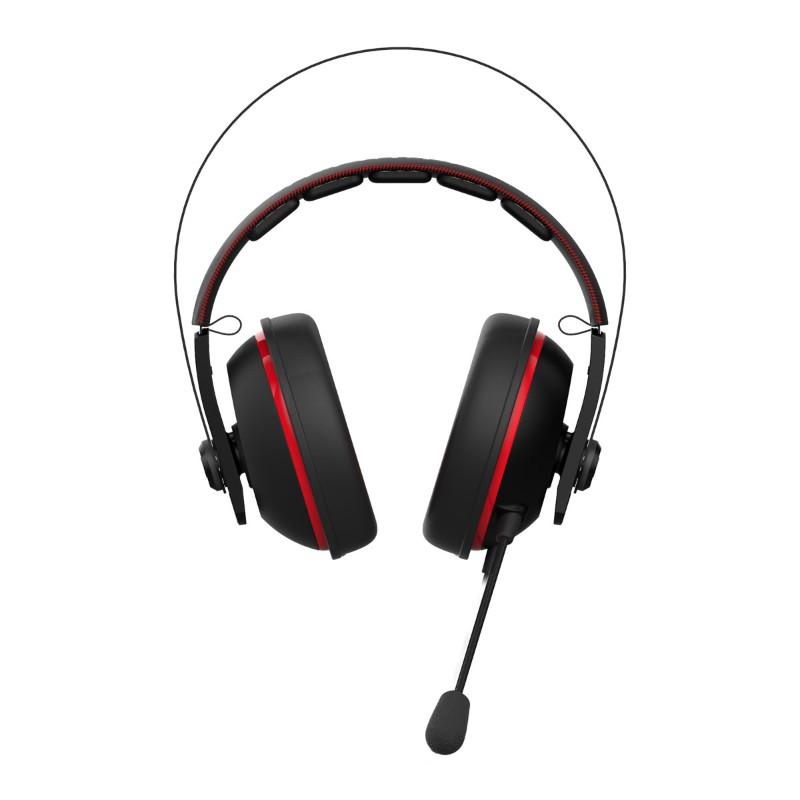 asus cerberus v2 gaming headset black red b