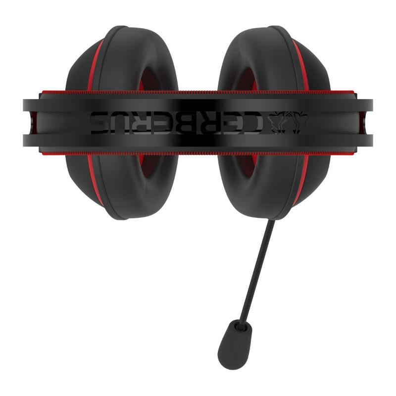 asus cerberus v2 gaming headset black red d