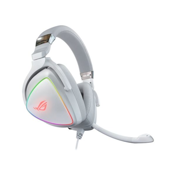 asus rog delta rgb gaming headset white a
