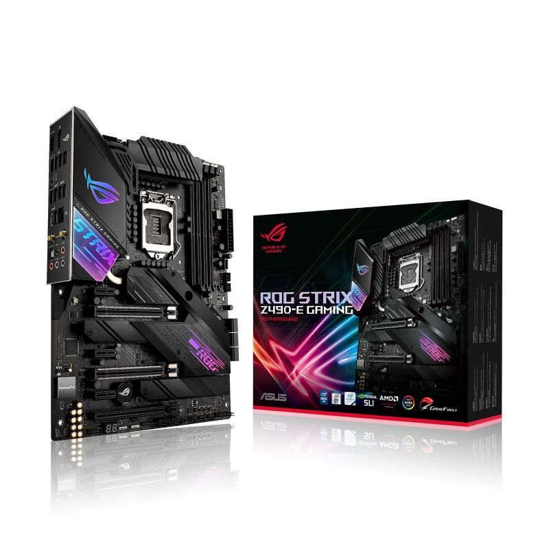 asus rog strix z490 e gaming intel 10th gen atx motherboard a