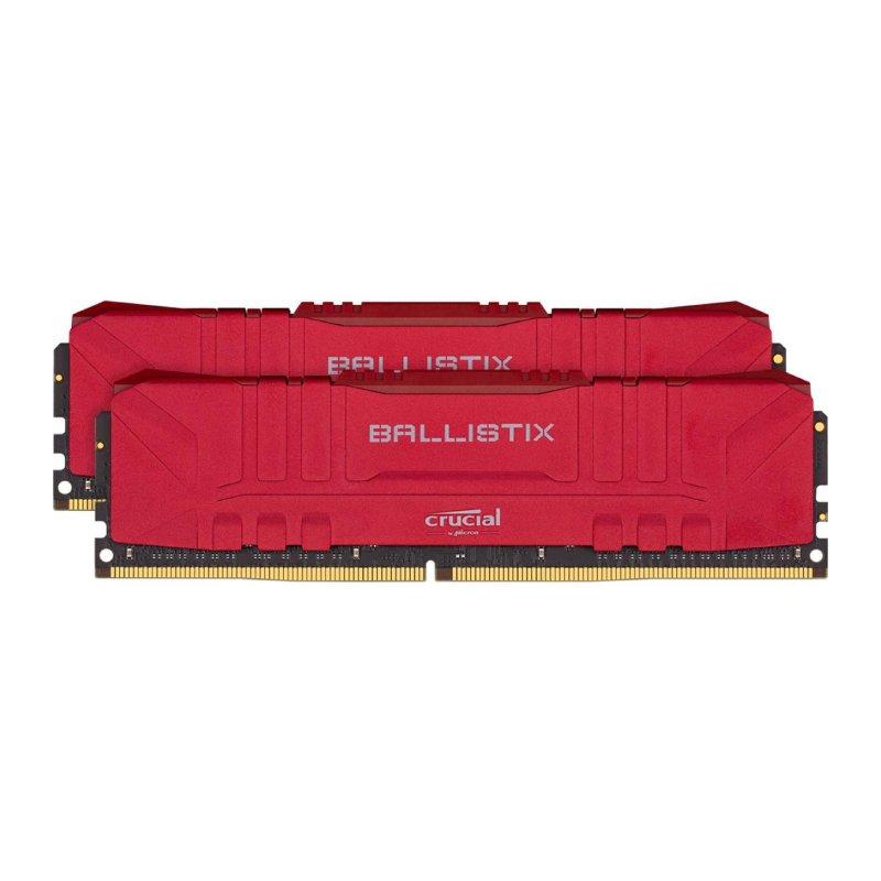 ballistix 16GB 2x8GB DDR4 3200MHz Gaming Memory Kit red a