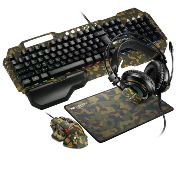 canyon argama 4 in 1 keyboard headset mouse mouse pad gaming set a