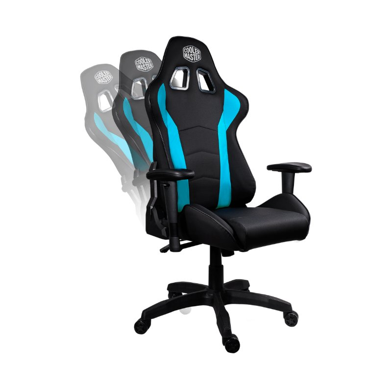 cooler master caliber r1 gaming chair black blue c