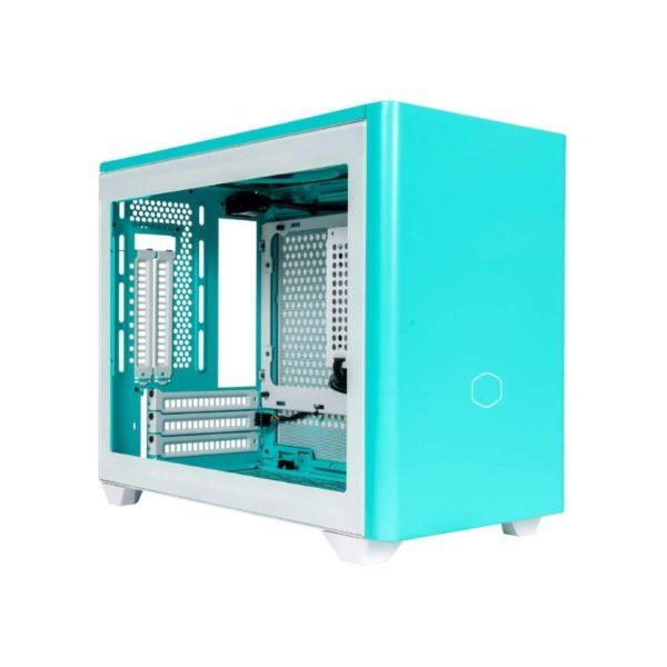 cooler master masterbox nr200p mini itx case caribbean blue a