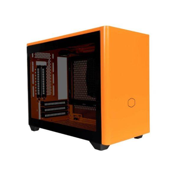 cooler master masterbox nr200p mini itx case sunset orange a