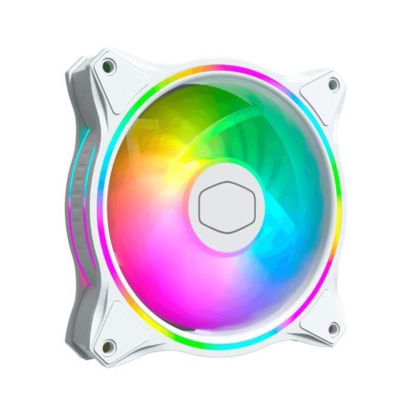 cooler master masterfan mf120 halo argb fan white a