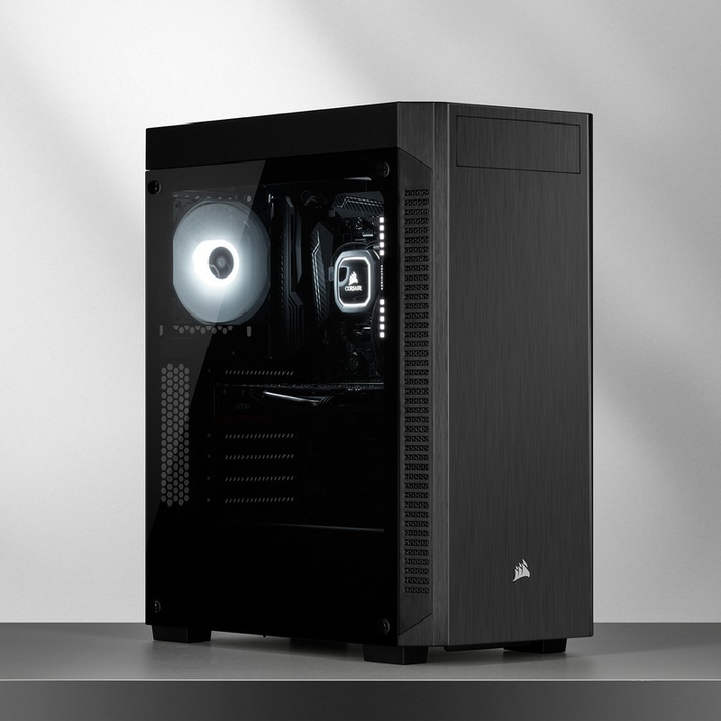 corsair 110r gaming case black c