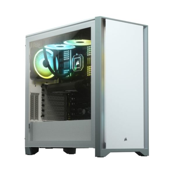 corsair 4000d gaming case white a