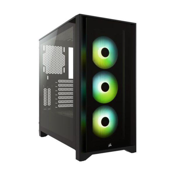 corsair 4000x rgb gaming case black a