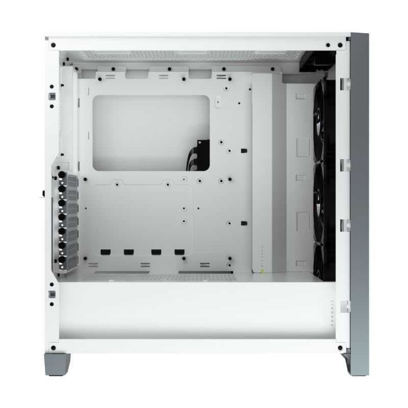 corsair 4000x rgb gaming case white c