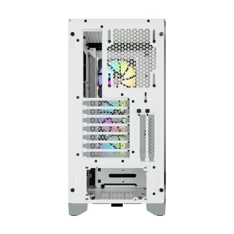 corsair 4000x rgb gaming case white e