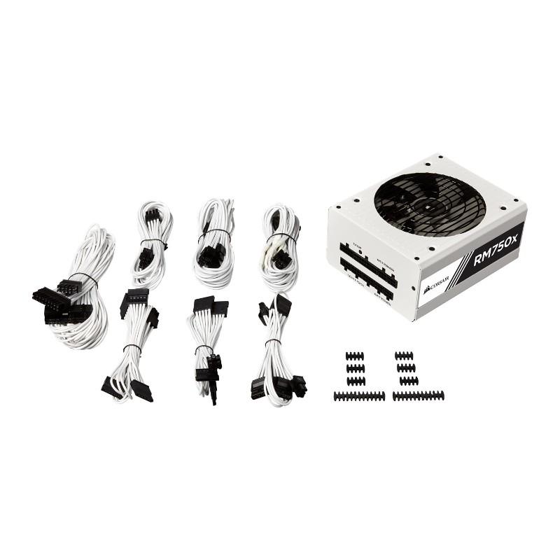 corsair 750w rm750x modular power supply white d