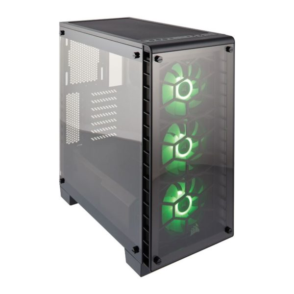 corsair crystal series 460x rgb case black a
