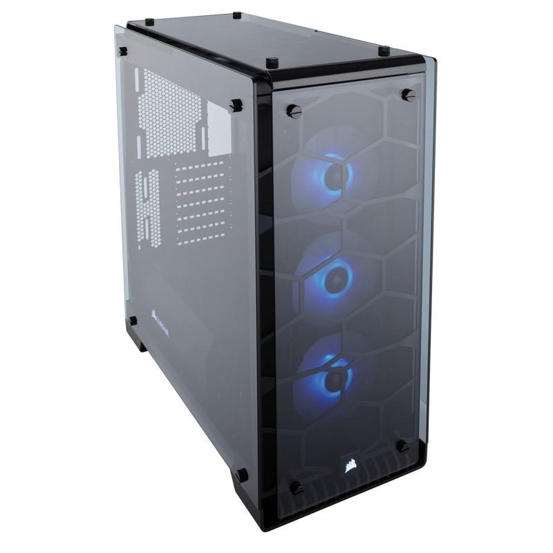 corsair crystal series 570x rgb case black b