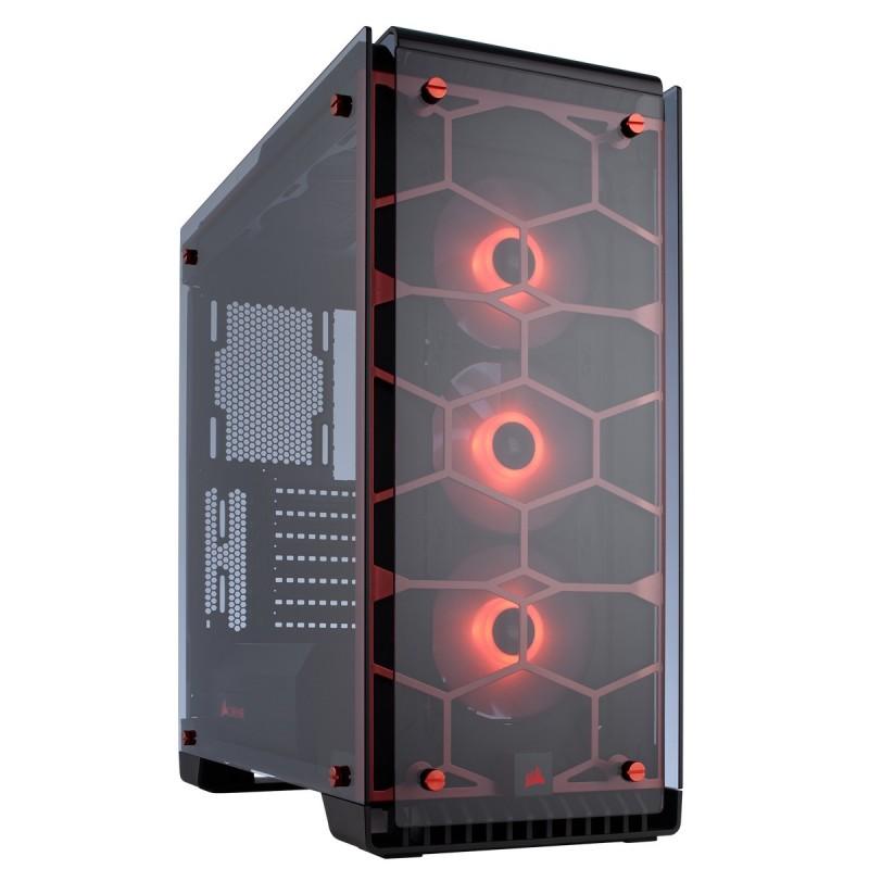 corsair crystal series 570x rgb case red b
