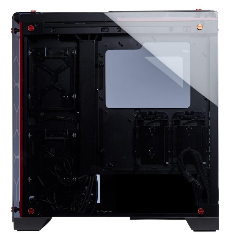 corsair crystal series 570x rgb case red e