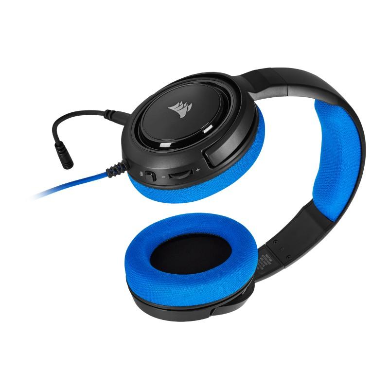 corsair hs35 gaming headset blue c