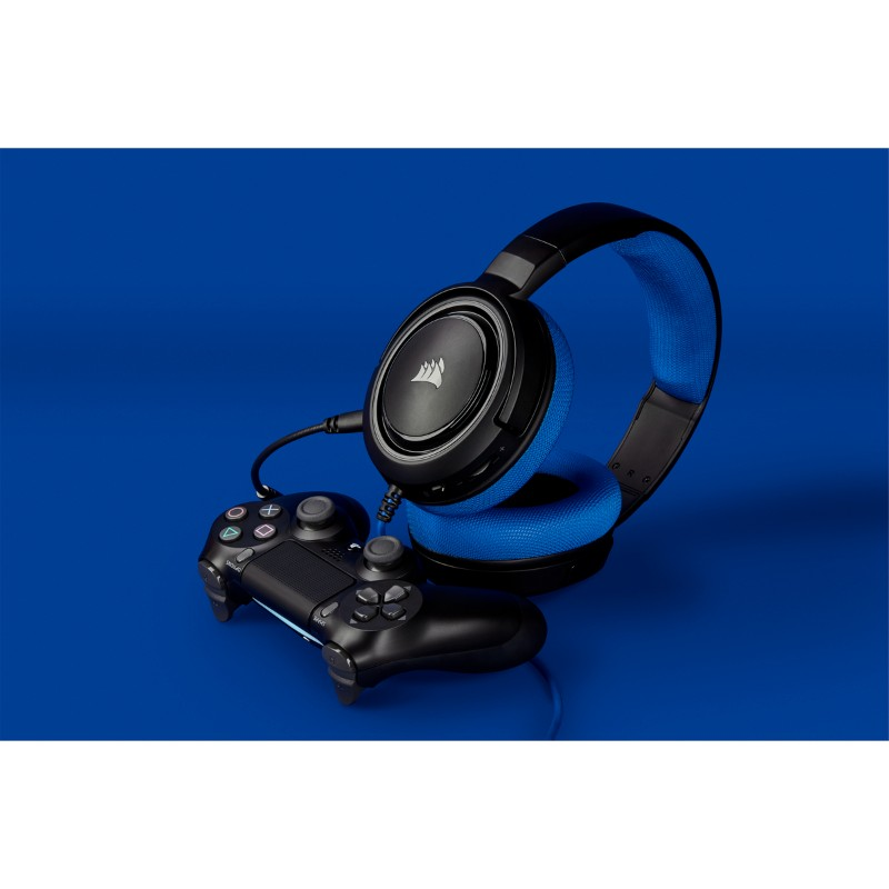 corsair hs35 gaming headset blue d