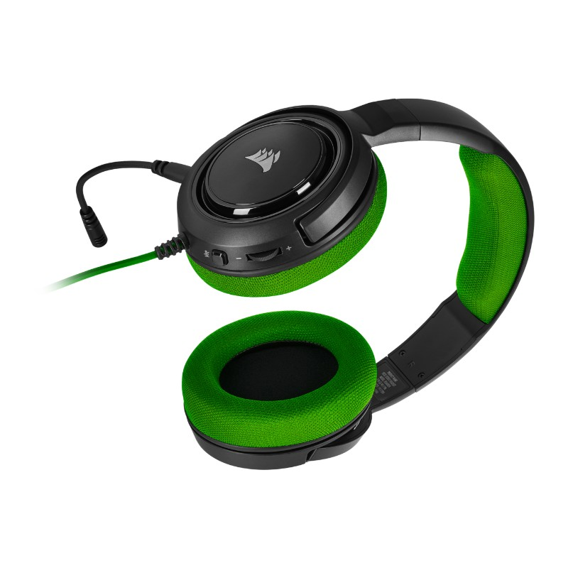 corsair hs35 gaming headset green c