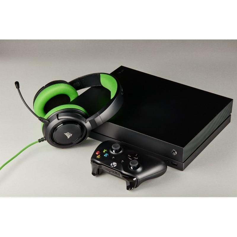 corsair hs35 gaming headset green d