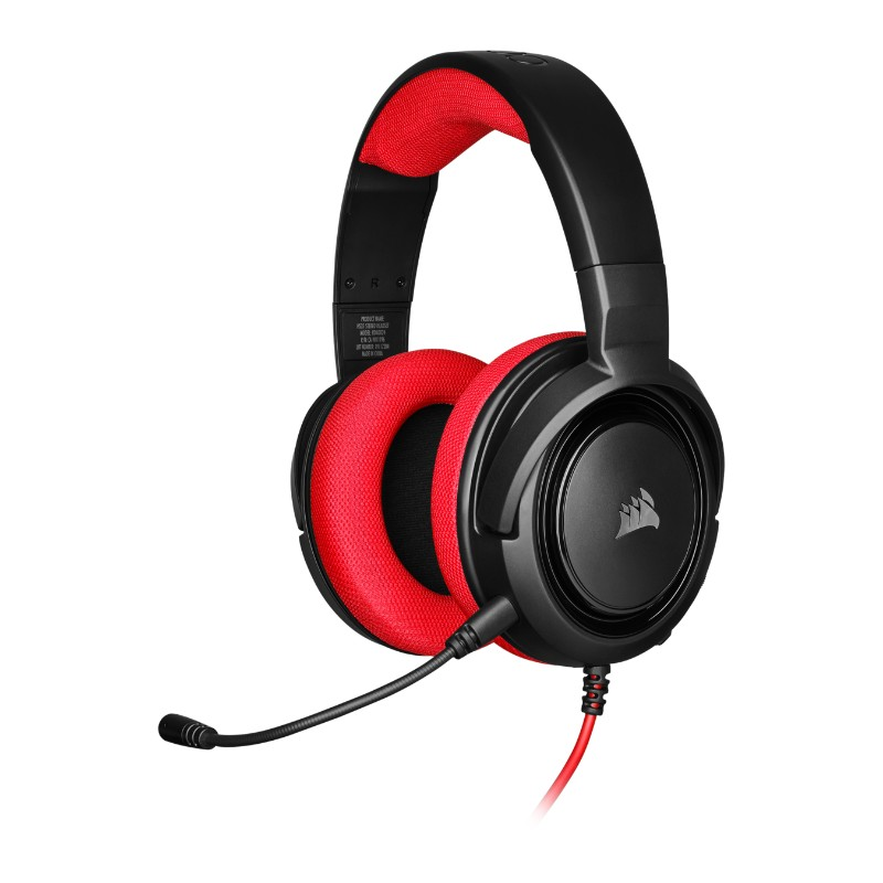 corsair hs35 gaming headset red a
