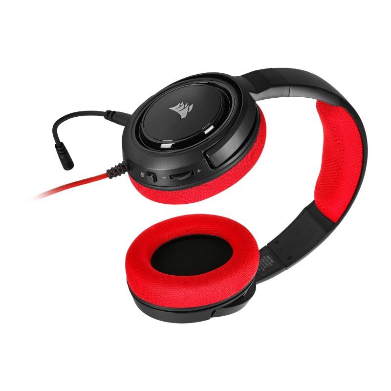 corsair hs35 gaming headset red c