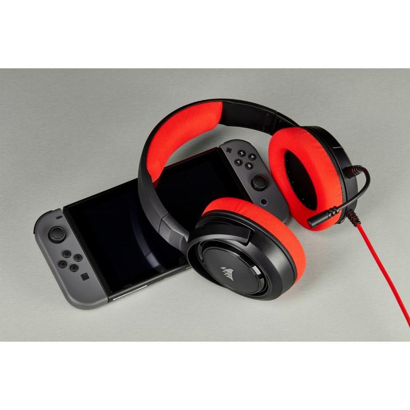 corsair hs35 gaming headset red d