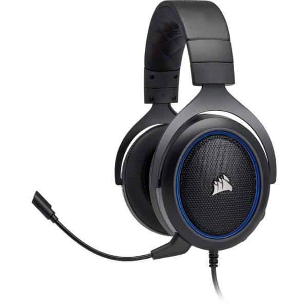 corsair hs50 black blue headset a