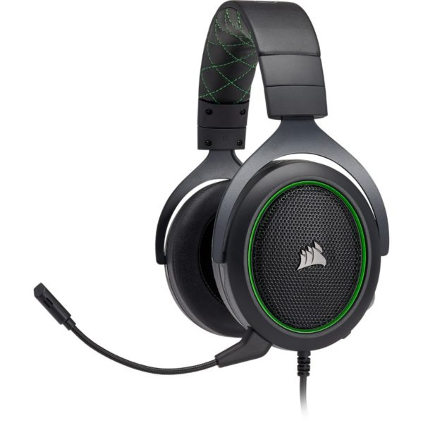 corsair hs50 black green headset a