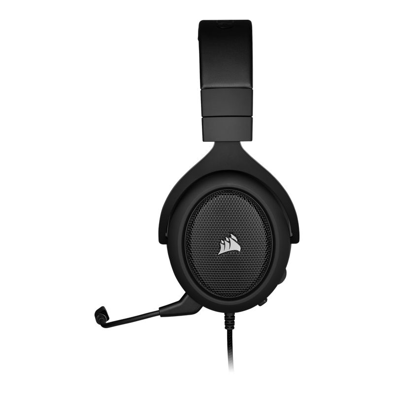 corsair hs60 surround gaming headset carbon c