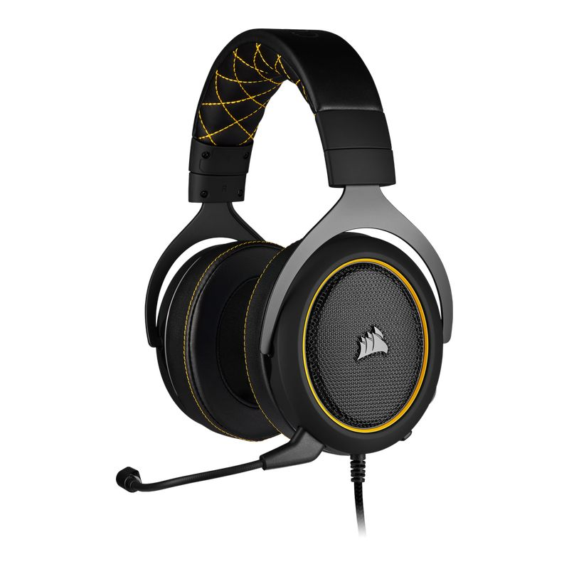 corsair hs60 surround gaming headset yellow a