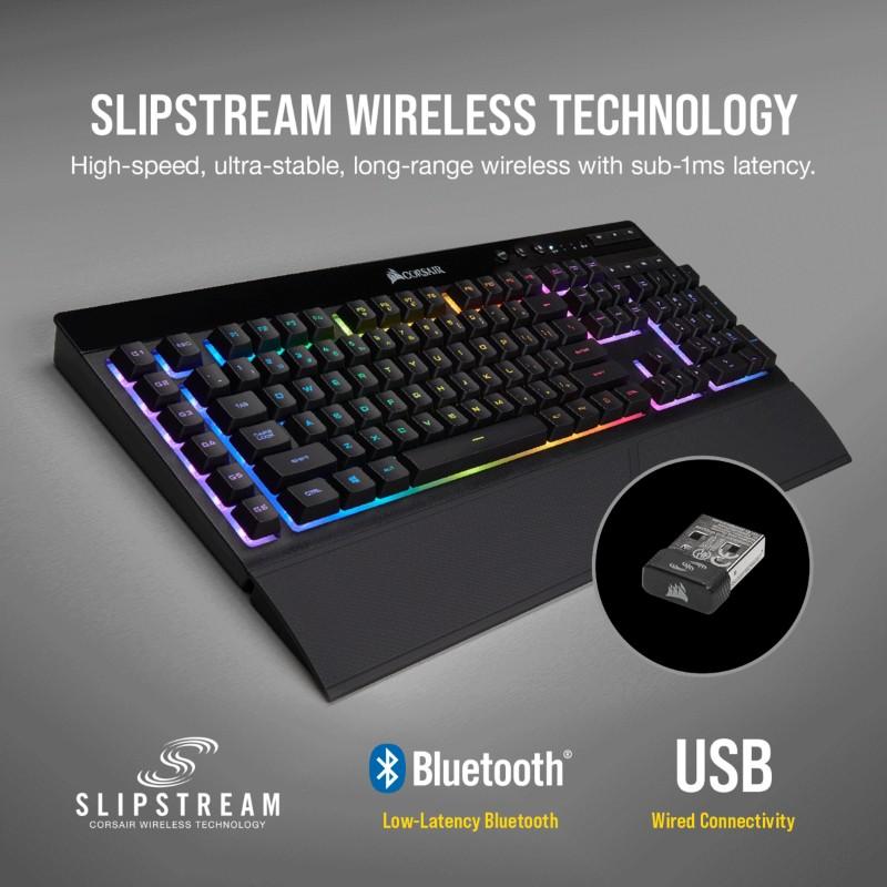 corsair k57 rgb wireless gaming keyboard b