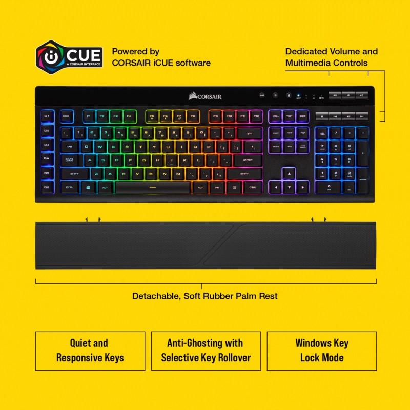 corsair k57 rgb wireless gaming keyboard e