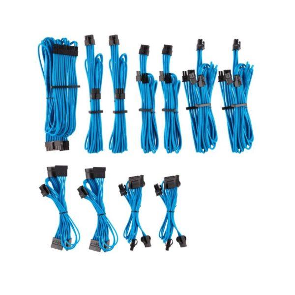 corsair premium individually sleeved psu cables pro kit blue a